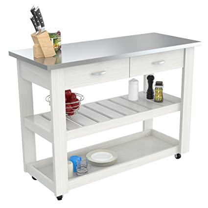 Amazon.com - Inval CR-1307 Mobile Kitchen Carts, Laricina ...
