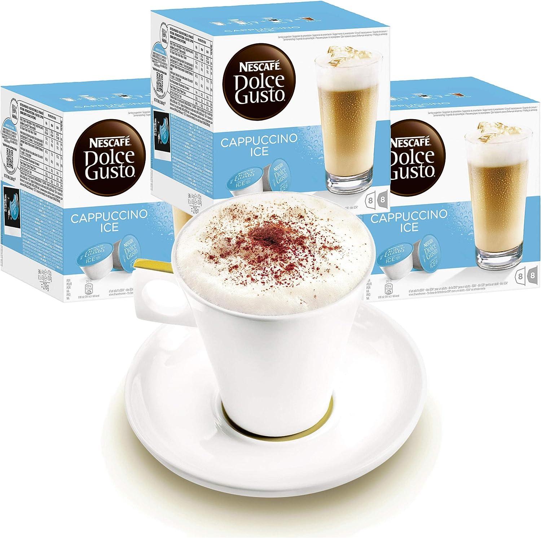 Nescafé Dolce Gusto - Juego de 3 Tazas con Vaso, Capuchino, café ...