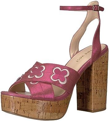 d9cdf49729e4 Nine West Women s Koolkat Metallic Platform Sandal Pink 5.5 ...