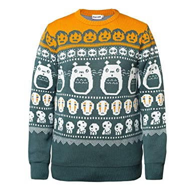 Anime Christmas Sweater.Amazon Com Shirt Happens Studio Ghibli Christmas Sweater