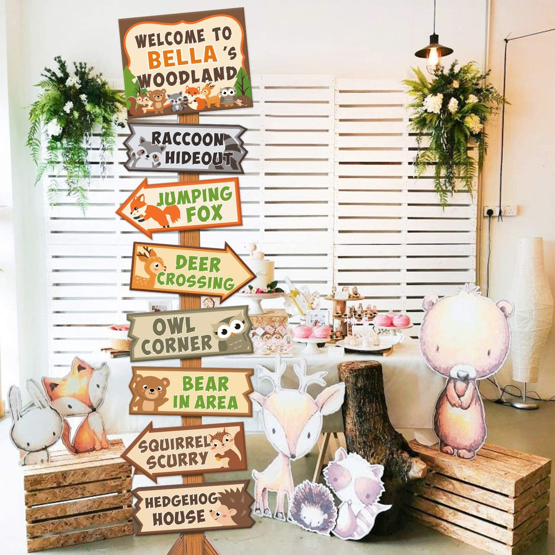 Girl Owl Theme Girls Birthday Party Decorations Girls 1st Birthday Party Door Sign Woodland Party