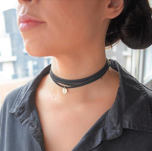 95555d579bc70 Amazon.com: Choker necklace, wraparound choker, faux suede cactus ...