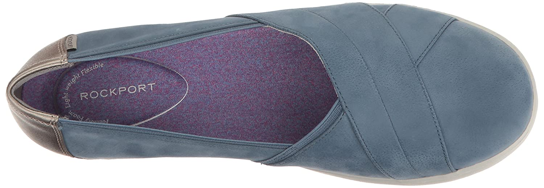 Rockport Women's Emalyn Slip-on Flat B01JIPGPKQ 5 B(M) US|Faded Denim