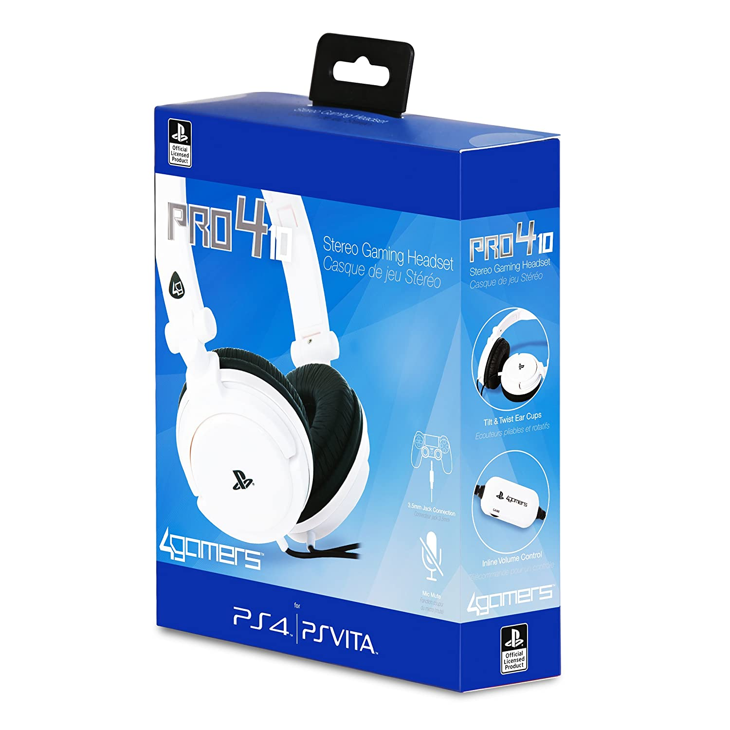 Amazon.com: Licensed Ps4 4-10 Pro Stereo Gaming Headset ...