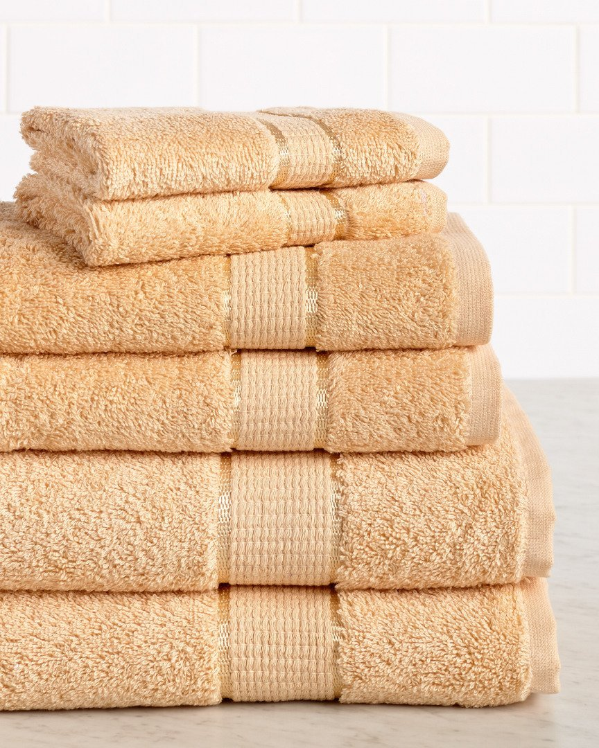Premium 6 Piece 650 GSM 100/% Cotton Towel Set Straw Hotel Quality Super Soft and Highly Absorbent HomeCrate