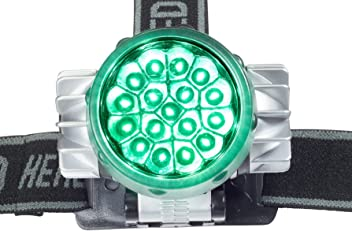 Happy Hydro 17 Bulb Green LED Headlamp for Photoperiod Sensitive Plants in Indoor Hydroponics & Grow Room Gardening by