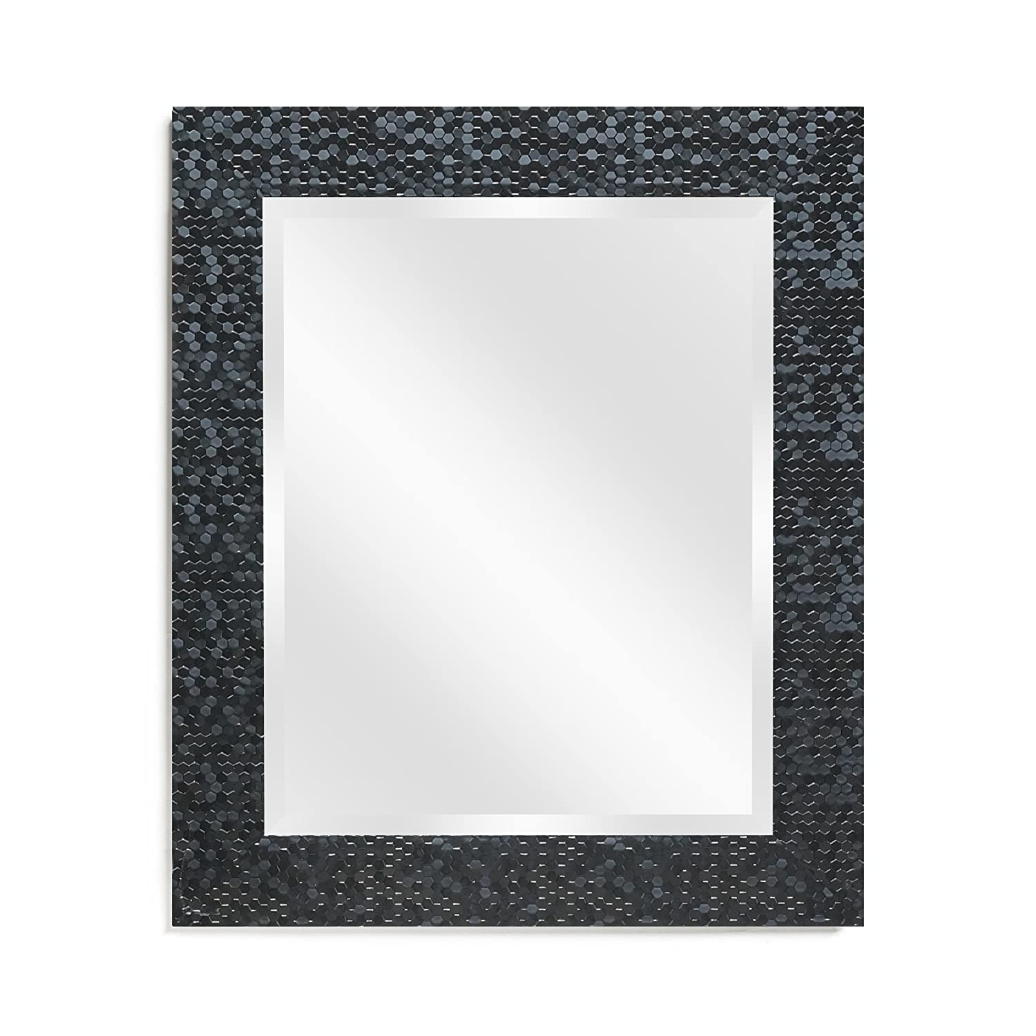Wall Beveled Mirror Framed - Bedroom or Bathroom Rectangular frame Hangs Horizontal & Vertical By EcoHome (16X20, Silver)
