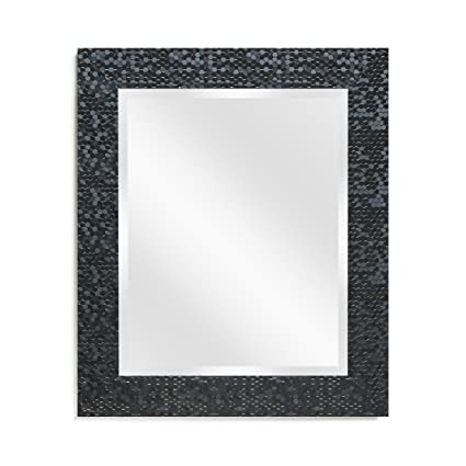 ca9406598037 Amazon.com  Wall Beveled Mirror Framed - Bedroom or Bathroom Rectangular  Frame Hangs Horizontal   Vertical by EcoHome (27x33
