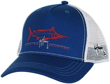 72ce57b8b95e00 Amazon.com : Guy Harvey Tight Line Trucker Hat - Navy Blue - One ...