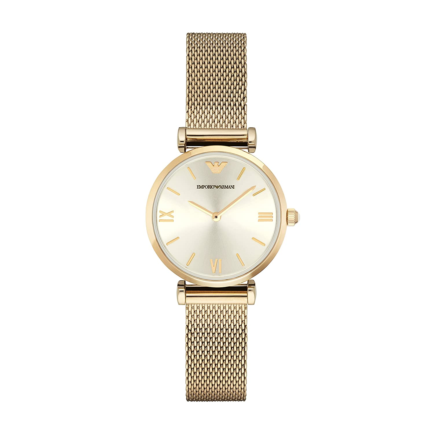 05aee1d1d6f3 Emporio Armani AR1957 Ladies Gianni T-Bar Yellow Gold Steel Bracelet Watch:  Amazon.ca: Watches