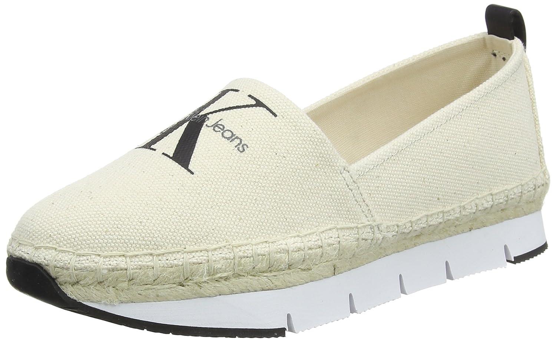 Calvin Klein Jeans Genna Heavy Canvas, Zapatillas para Mujer 38 EU|Blanco (Ntw 000)