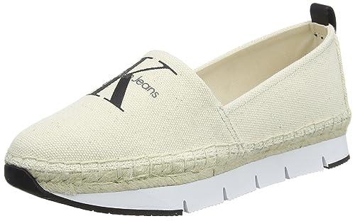 Calvin Klein Genna Heavy Canvas, Zapatillas para Mujer: Amazon.es: Zapatos y complementos