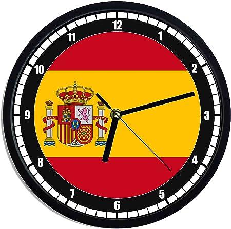 Reloj de pared de plástico bandera España: Amazon.es: Hogar