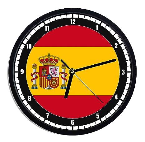 Reloj de pared de plástico bandera España
