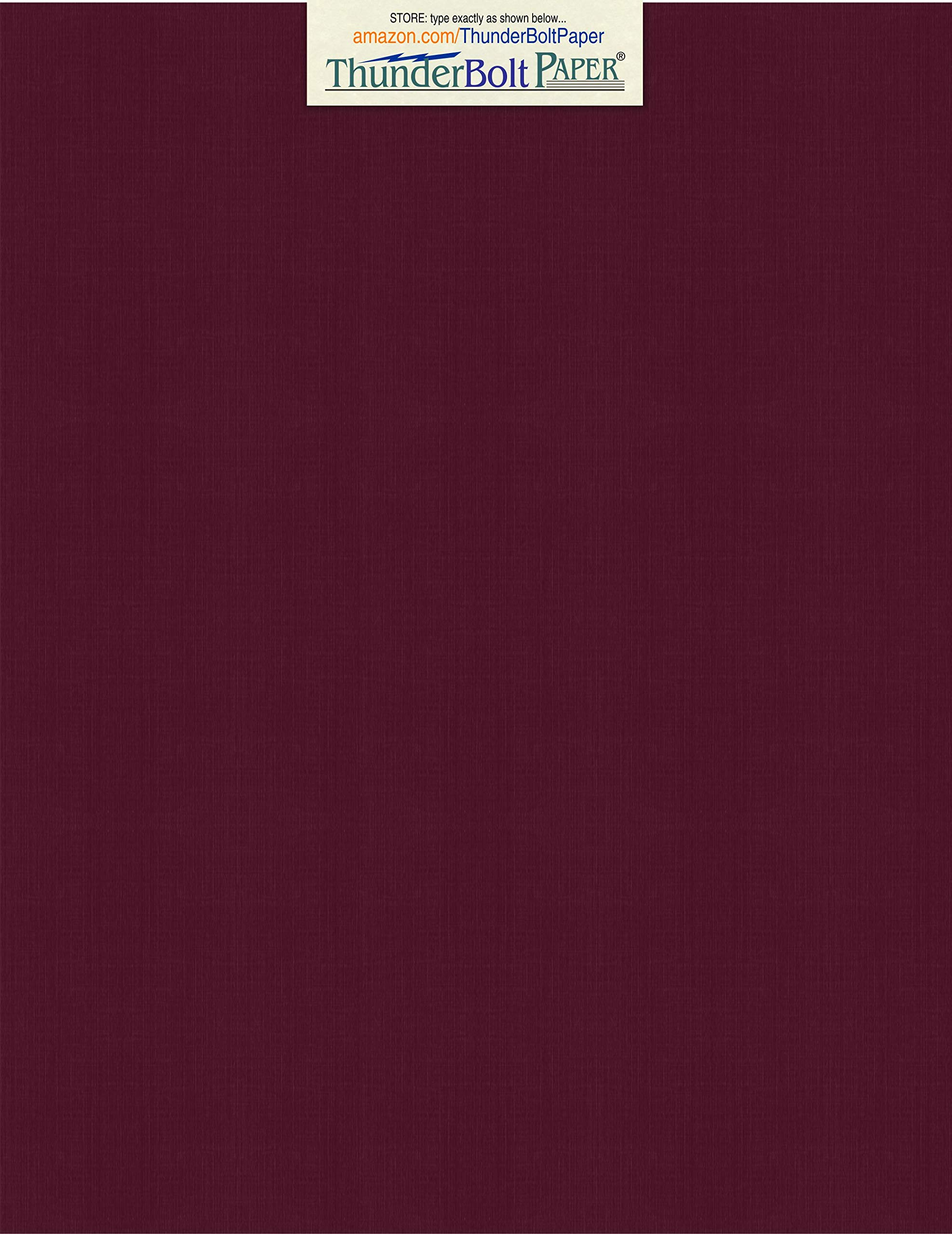 50 Dark Burgundy Linen 80# Cover Paper Sheets - 8.5'' X 11'' (8.5X11 Inches) Standard Letter|Flyer Size - 80 lb/Pound Card Weight - Fine Linen Textured Finish - Deep Dye Quality Cardstock