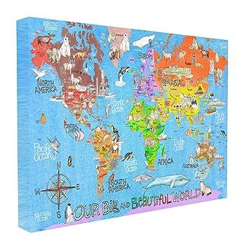 Amazoncom Stupell Home Dcor Our Big Beautiful World Map