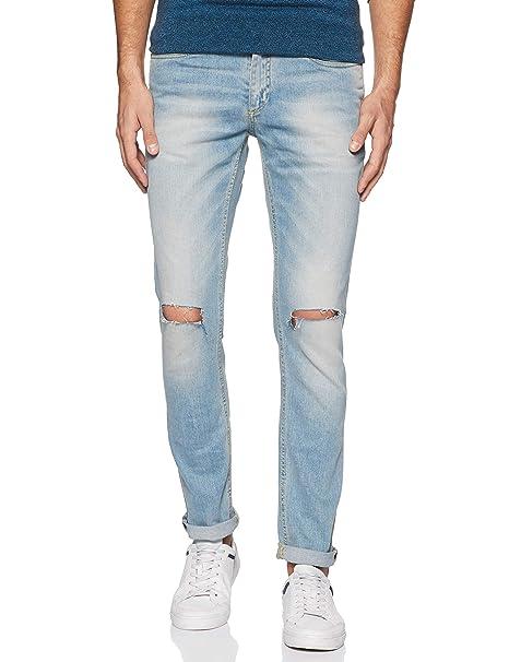 Jack   Jones Men s Ben Skinny Fit Jeans (5712613986774 Blue Denim 33W ... b80568b3cf