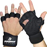Ventilated Gym Gloves with Wrist Wrap Support for Men & Women. Extra Grip & Full Palm Padding to prevent calluses & pain. Breathable Design, Amazing Comfort. Perfect for Weight lifting, Workout, Cross Training & Fitness.