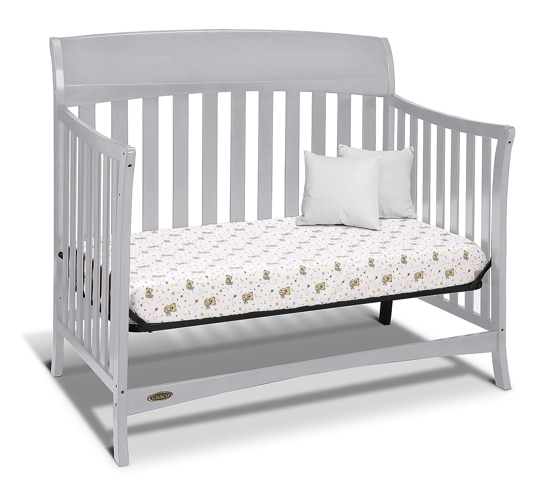 Amazon Graco Lennon 4 in 1 Convertible Crib Pebble Gray Baby