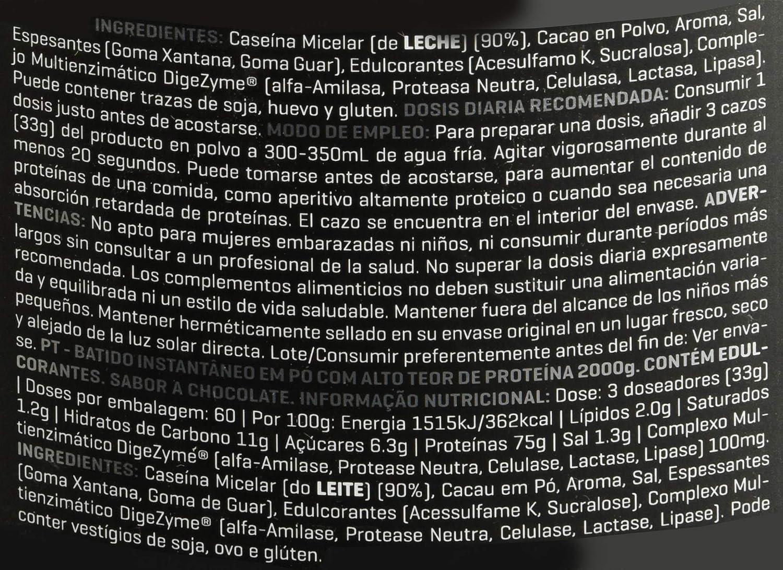 Prozis Xtreme Casein SS, Sabor Chocolate - 2000 gr: Amazon.es ...