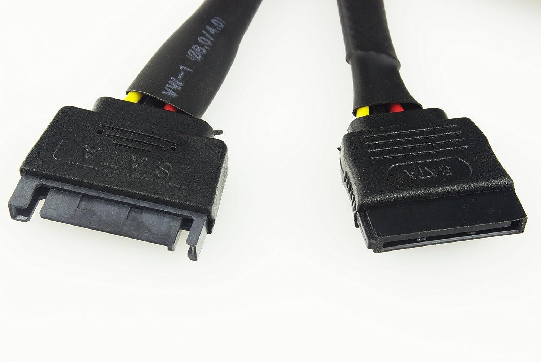 Cable Junkies con manicotto nero 60 cm Prolunga SATA