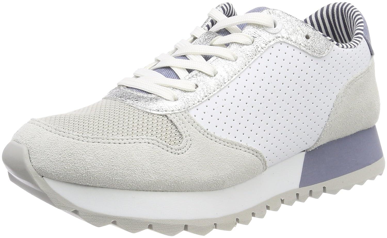 s.Oliver 23668, Zapatillas para Mujer 38 EU|Blanco (White Punch)