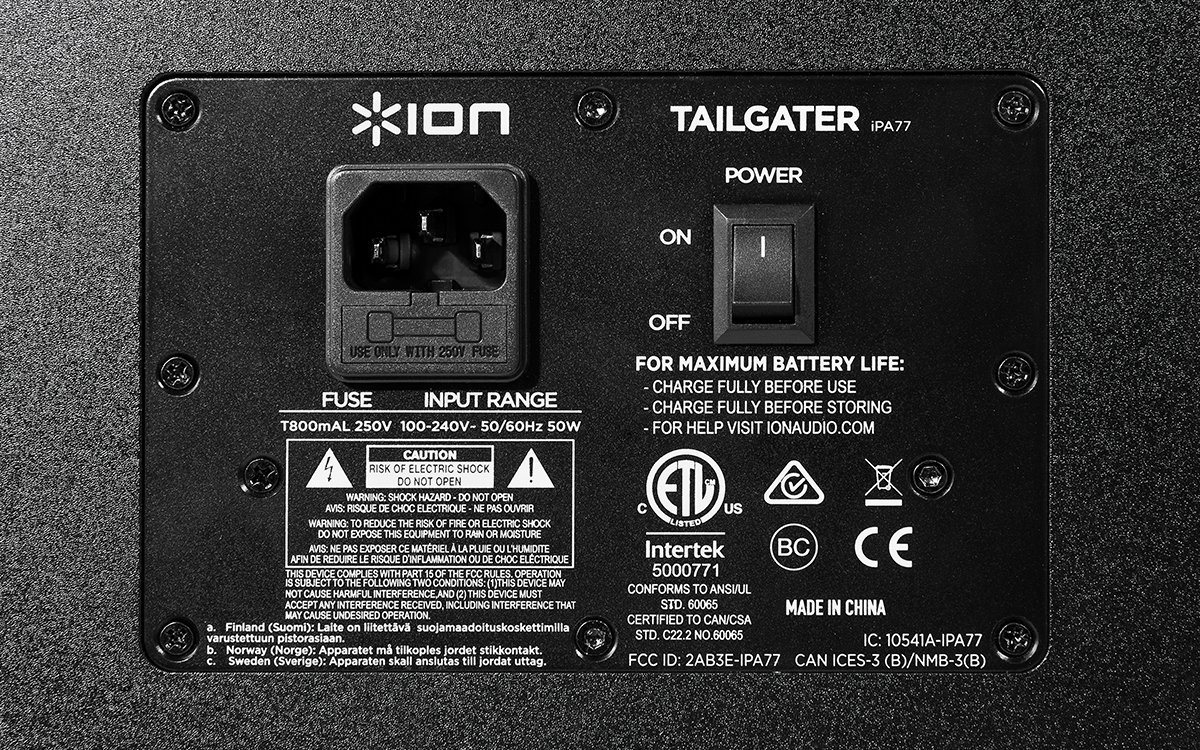 ION Audio Tailgater (iPA77) | Portable Bluetooth PA Speaker with Mic, AM/FM Radio, and USB Charge Port by ION Audio (Image #7)
