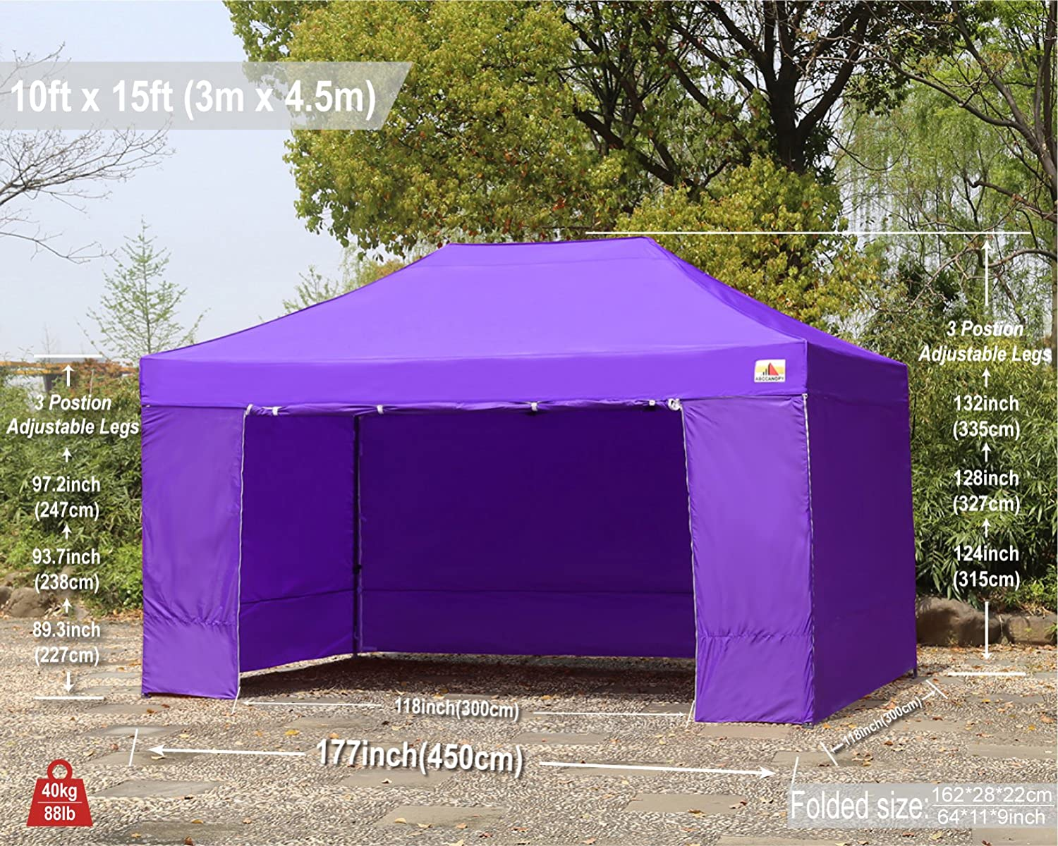 Carnival Roral Blue ABCCANOPY Canopy Tent 10 x 10 Pop Up Canopies Commercial Tents