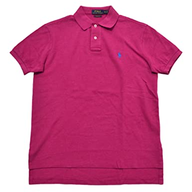 5728e1e2229a Image Unavailable. Image not available for. Color  Polo Ralph Lauren Mens  Custom Fit Mesh Polo Shirt (L