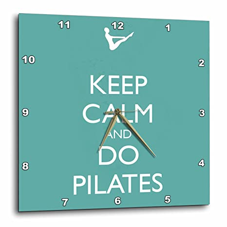 3dRose dpp_159560_2 Keep Calm and Do Pilates. Yoga. Workout. Pilates Instructor-Wall Clock, 13 by 13-Inch