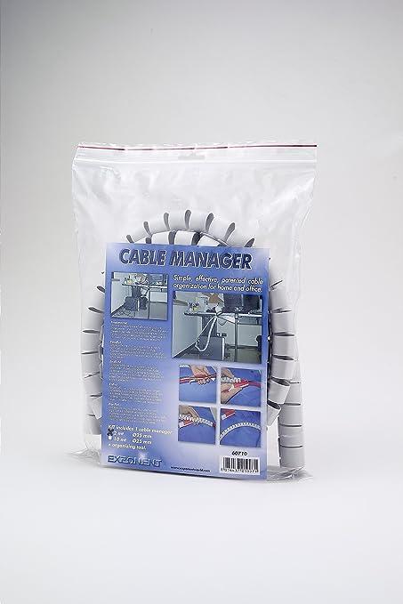 Diametro 25 mm Exponent 60710 Cable Manager Canalina per lOrganizzazione di Cavi