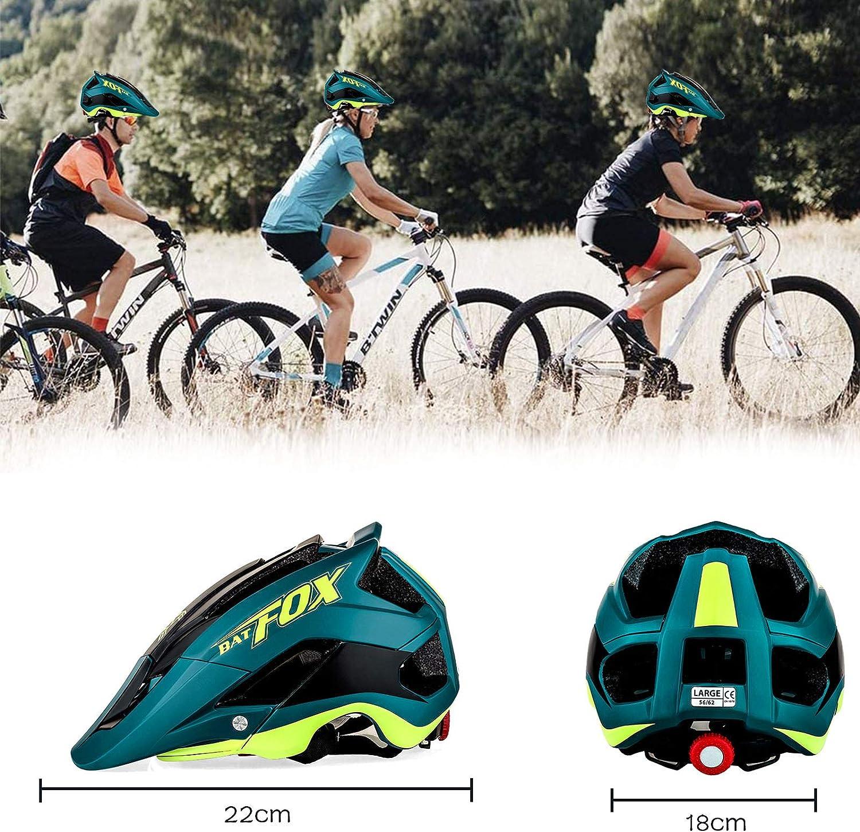 Zeroall Casco Bici Casco da Bicicletta Dimensioni Regolabili 56-62cm Donna Uomo Mountain Bike Helmet con Visiera Staccabile Casco da Ciclismo per Scooter Skateboard Bicicletta