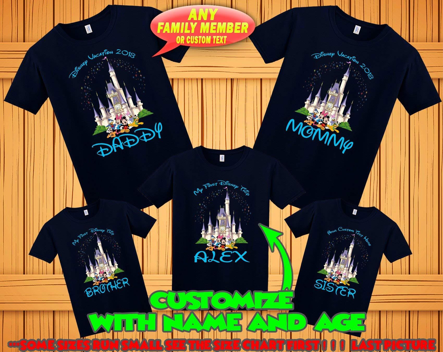 Disney family matching custom t-shirts, Family vacation disney shirts, custom Personalized disney shirt, Personalized Disney Shirts for Family