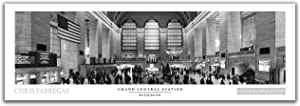 Grand Central Station Black & White Panoramic Poster - New York City Wall Art Decor