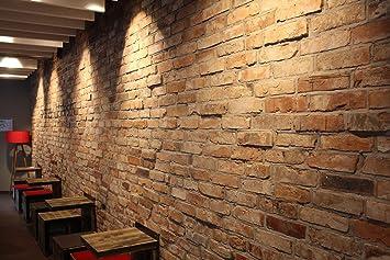 Backsteinwand Innen klinker backstein antik amazon de baumarkt
