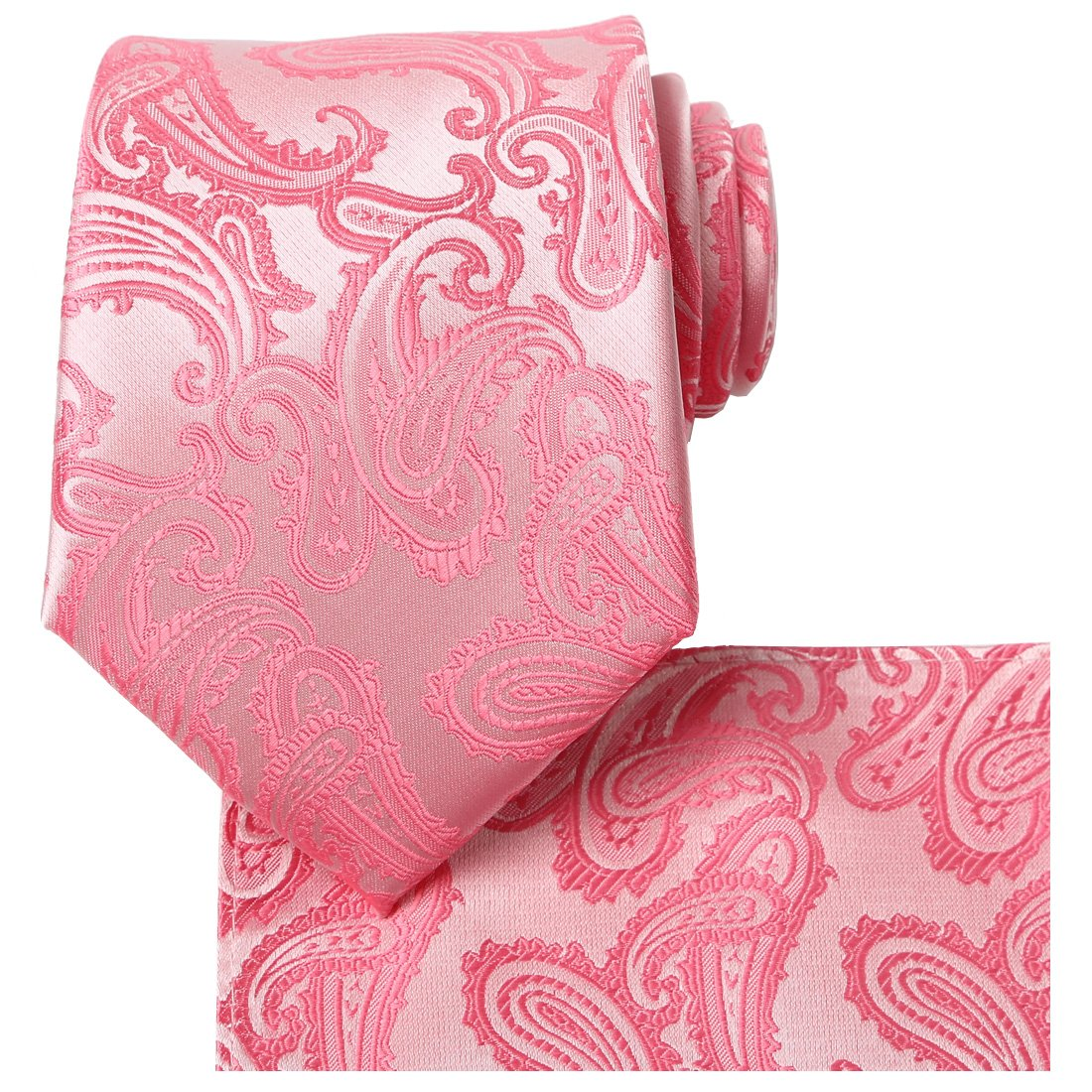 f65d4b16d0ee KissTies Mens Tie Set: Paisley Necktie + Pocket Square Hanky + Gift Box  product image
