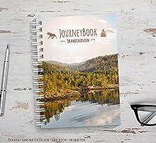 Skandinavien Reisetagebuch zum selber schreiben oder als Abschiedsgeschenk