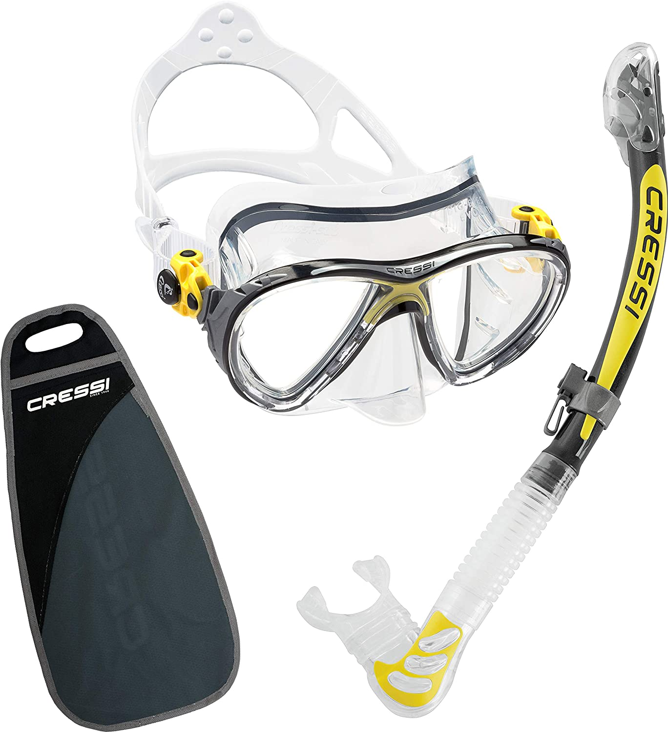 Made in Italy by quality since 1946 Premium Quality Professional Snorkeling Adult Set Cressi BIG EYES EVO /& ALPHA DRY