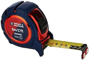 5 m Spear & Jackson 30435HD Heavy Duty Soft Feel Measuring Tape Red/Blue Tape Measures