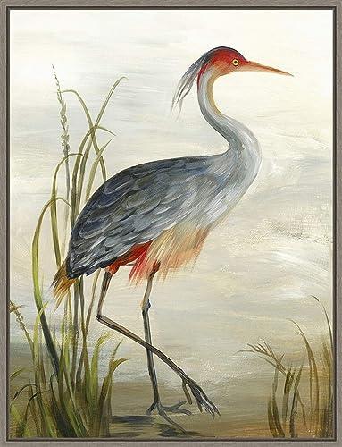 Framed Canvas Wall Art Print | Home Wall Decor Canvas Art | Grey Heron