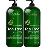 New York Biology Tea Tree Shampoo and Conditioner Set – Deep Cleanser – Relief for Dandruff and Dry Itchy Scalp – Therapeutic