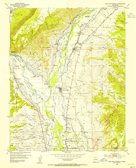 Pueblo New Mexico Map.Amazon Com San Juan Pueblo Nm Topo Map 1 24000 Scale 7 5 X 7 5