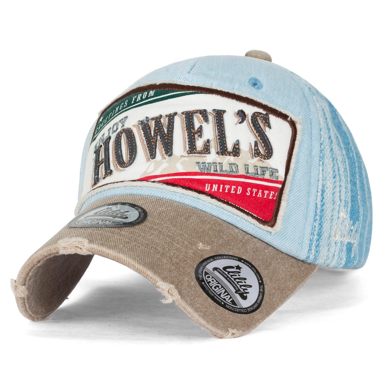 e0af84a8743 ililily Howel s Distressed Vintage Washed Cotton Denim Baseball Cap Trucker  Hat