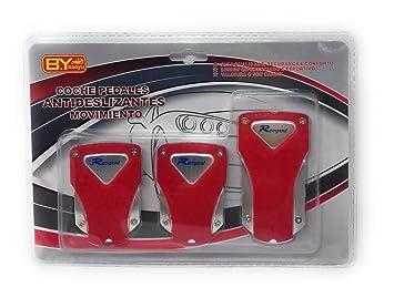 Pedales Coche Universales Kit Embrague Freno Acelerador, Muy Finos Ligeros Rojos: Amazon.es: Coche y moto