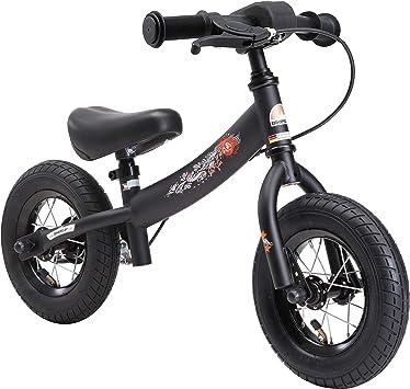 Bikestar Bicicleta de Equilibrio para niños de 2 años con neumáticos de Aire y Frenos | 10 Pulgadas Sport Edition | Negro: Amazon.es: Juguetes y juegos