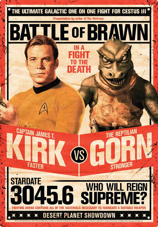Aquarius 30173 Star Trek Kirk Vs Gorn Tin Sign