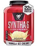 BSN SYNTHA-6 Whey Protein Powder, Micellar Casein, Milk Protein Isolate Powder, Vanilla Ice Cream, 48 Servings (Package…