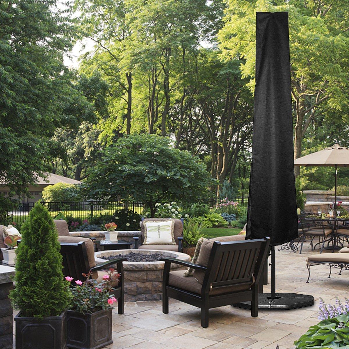GEMITTO Schutzh/ülle f/ür Sonnenschirm Wasserdicht aus Polyester Oxford 420D 50cm mit Teleskopstange h/ülle ampelschirm 190 x 30