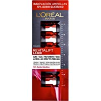 L'Oréal Paris Revitalift Láser Ampollas Efecto Peeling, Para 7 Días, Con Ácido Glicólico, 7 Unidades, 1,3 ml