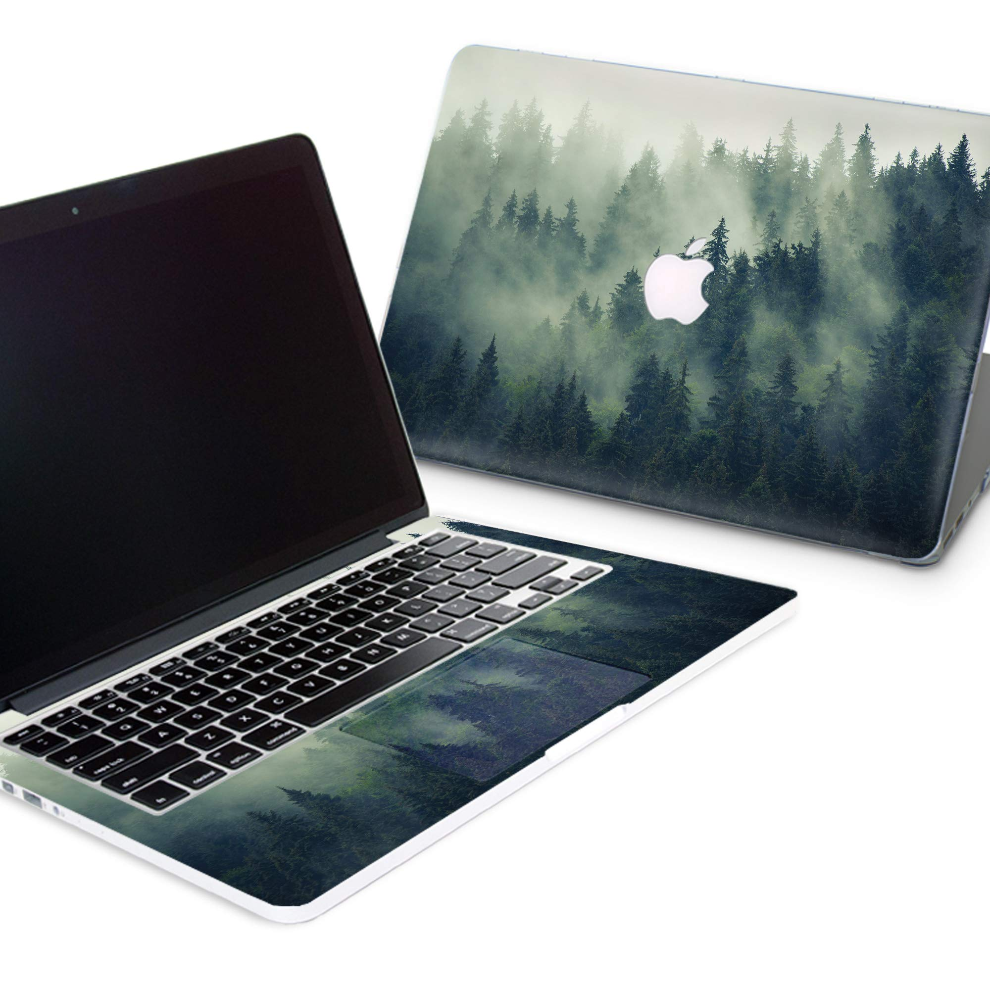 Durable MacBook Case with Around Keyboard Vinyl Sticker Decal Nature Art Designed Protective Cover for MacBook Laptop Hard Case (Pro 13 (A1278) CD-Drive, Silent Foggy Forest)